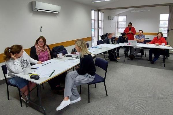 Adults attending workshop