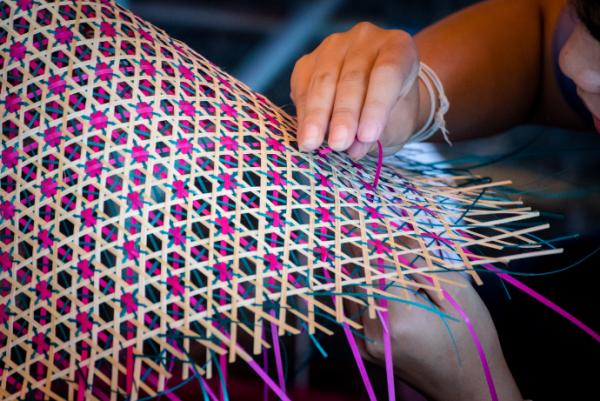 Photo of fine flax weaving